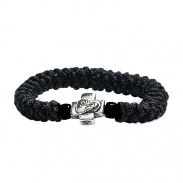 Prayer Rope Bracelet ~ Komboskini ~ Chotki with Black Beads
