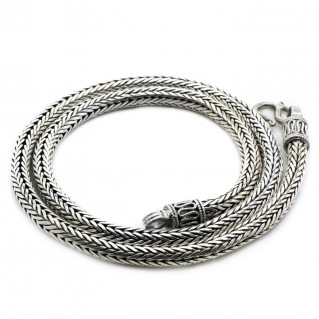 Thick Round Chain-Necklace ~ Sterling Silver