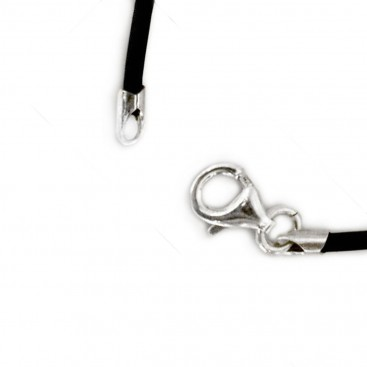 Rubber Choker Necklace with sterling silver clasp