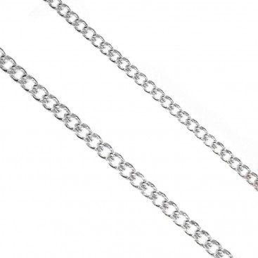 Sterling Silver Chain Cuban Link ~ 2.7 mm