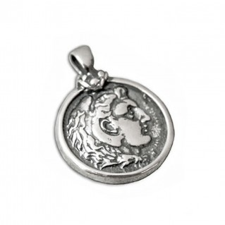 Alexander the Great ~ Silver Coin Pendant - M