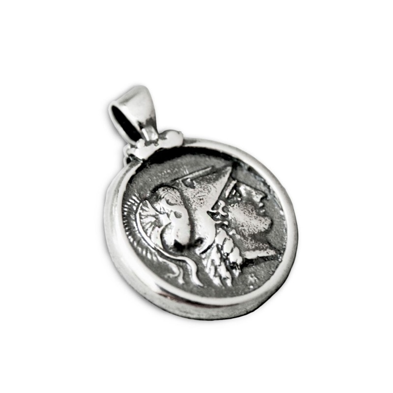 Athena nike stater greek coin silver pendant greek jewelry athena nike stater greek coin silver pendant mozeypictures Images