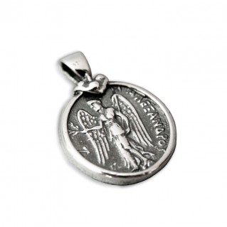 Athena & Nike Stater ~ Greek Coin Silver Pendant