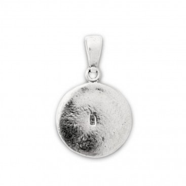 Macedonian Vergina Sun ~ Sterling Silver Pendant with Meander Bezel