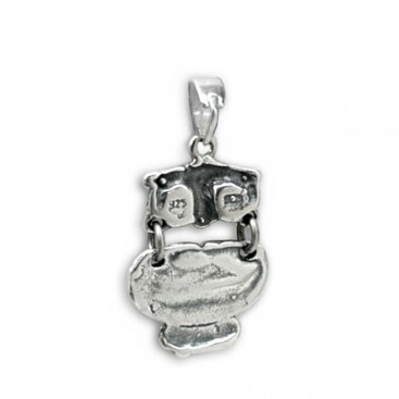 Goddess Athena's Wise Little Owl ~ Sterling Silver Pendant - B