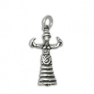 Goddess with Snakes ~ Sterling Silver Pendant