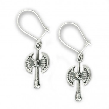 Minoan Labrys-Double Axe ~ Sterling Silver Earrings with Hook