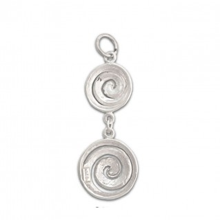 Two Spirals ~ Sterling Silver Pendant