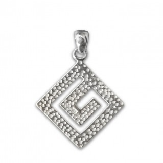 Meander-Greek Key ~ Sterling Silver Pendant