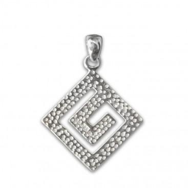 Meander-Greek Key ~ Sterling Silver Pendant