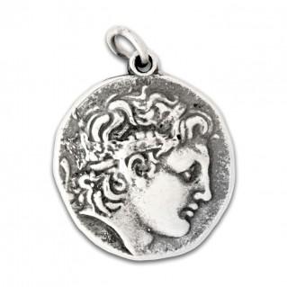 Alexander the Great & Vergina Star ~ Silver Pendant - L