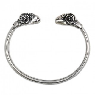 Ram's Head ~ Sterling Silver Cuff Bracelet