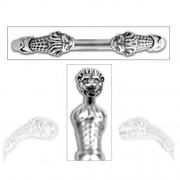 Lion's Head ~ Sterling Silver Cuff Bracelet