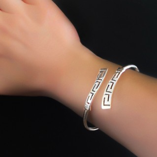 Greek Key - Meander ~ Sterling Silver Cuff Bracelet