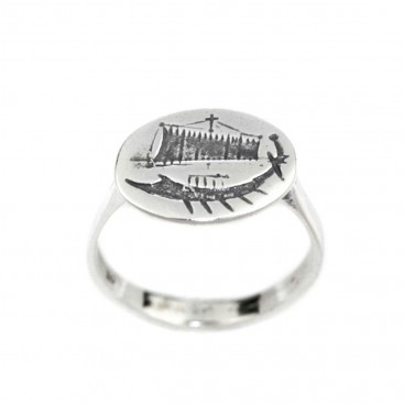 Trireme - Ancient Greek Ship - Sterling Silver Signet Ring