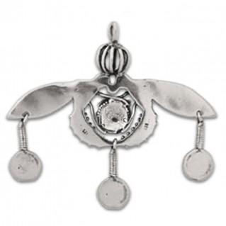Minoan Malia Bees ~ Sterling Silver Pendant - XL