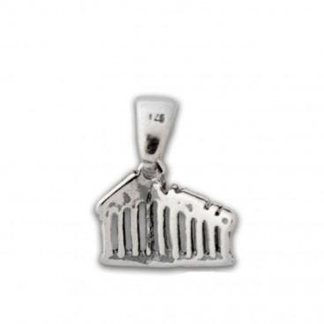 Parthenon-Akropolis ~ Sterling Silver Pendant-Charm - S