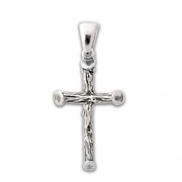 Sterling Silver Rugged Cross Pendant