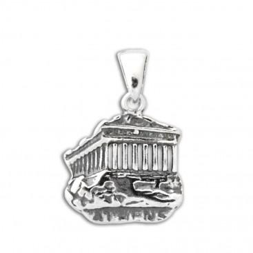 Parthenon-Akropolis ~ Sterling Silver Pendant-Charm - M