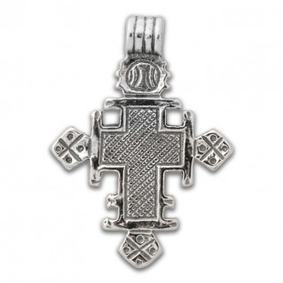 Orthodox Coptic ~ Sterling Silver Cross Pendant - A