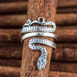Snake-Serpent ~ Sterling Silver Ring