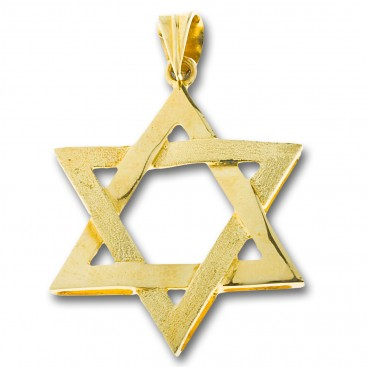 Star of David ~ 14K Solid Gold Pendant - A/Large