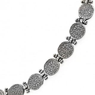 Minoan Phaistos Disk ~ Sterling Silver Necklace