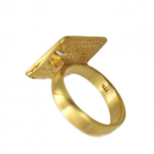 Meander-Greek Key ~ Sterling Silver 24K/ Gold Plated 2-Tone Ring