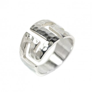 Meander-Greek Key ~ Sterling silver Ring