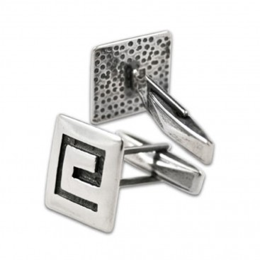 Meander-Greek Key ~ Sterling Silver Cufflinks