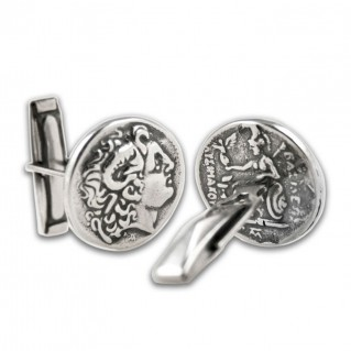 Alexander The Great ~ Lysimachos Tetradrachm Coin ~ Silver Cufflinks