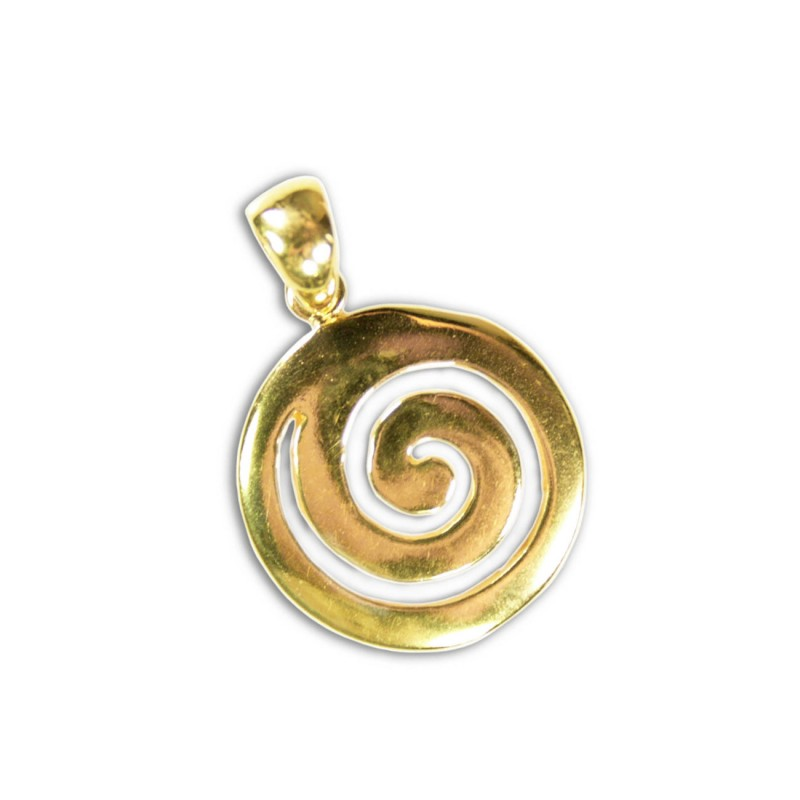 Spiral sterling silver 24k gold plated pendant greek jewelry spiral sterling silver 24k gold plated pendant aloadofball Images
