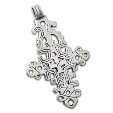 Orthodox Coptic ~ Sterling Silver Cross Pendant - D