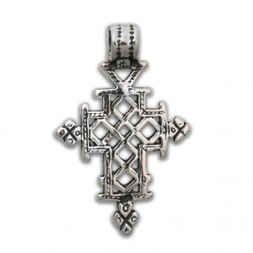 Orthodox Coptic ~ Sterling Silver Cross Pendant - B