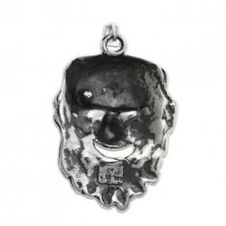 Dionysus-Bacchus Mask ~ Silver Pendant