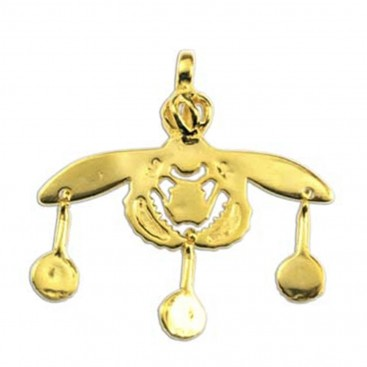 Minoan Malia Bees ~ Sterling Silver 24K/ Gold Plated Pendant - M