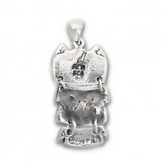Goddess Athena's Wise Little Owl ~ Sterling Silver Pendant - D