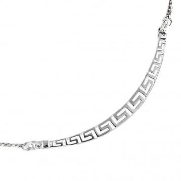 Meander-Greek Key ~ Sterling Silver Necklace