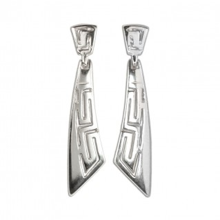 Meander-Greek Key ~ Sterling Silver Pierced Earrings
