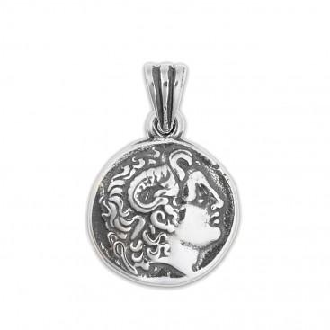 Alexander the Great ~ Lysimachos Tetradrachm Coin ~ Silver Pendant - S
