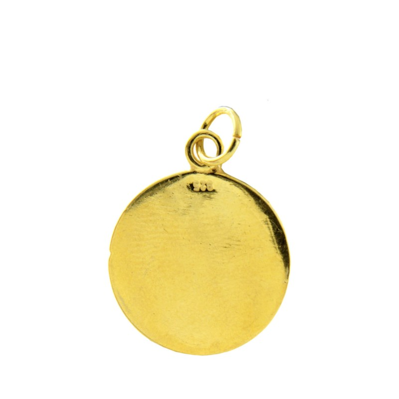 Macedonian Vergina Sun Sterling Silver 24k Gold Plated Pendant