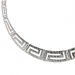 Meander-Greek Key ~ Sterling Silver Necklace L