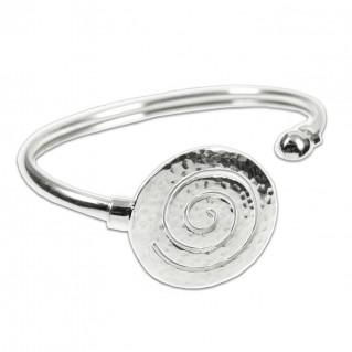 Large Spiral ~ Sterling Silver Cuff Bracelet