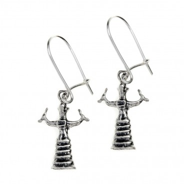 Goddess with Snakes ~ Sterling Silver Pierced Earrings