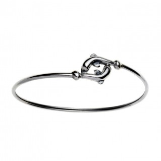 Dolphins ~ Sterling Silver Cuff Bracelet
