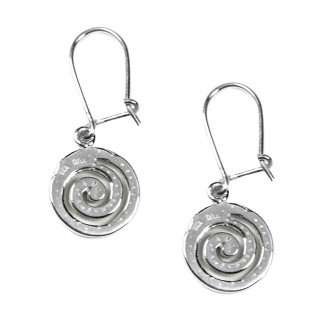 Spiral ~ Sterling Silver Pierced Earrings