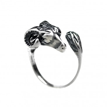 Ram's Head - Sterling Silver Ring