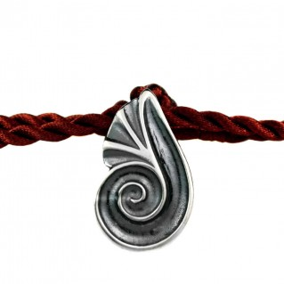 Spiral Shell ~ Sterling Silver Pendant with Cord Choker