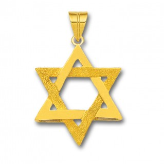 Star of David ~ 14K Solid Gold Pendant - A/Medium