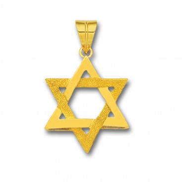 Star of David ~ 14K Solid Gold Pendant - A/Small